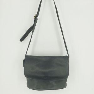 Coach Sonoma Black Natural Grain Flap Bag 4903